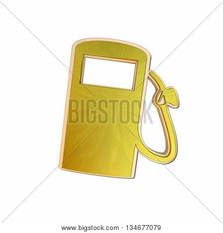 golden fuel icon isolated on white background - 3D render