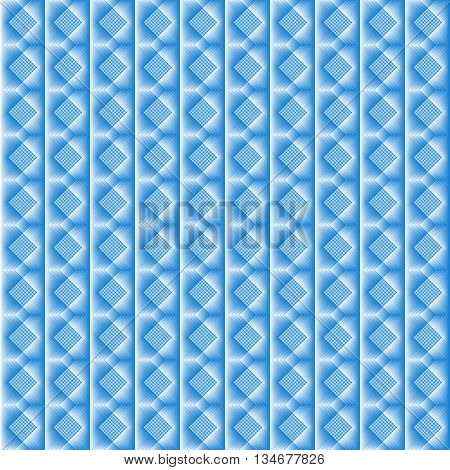 Tiles made of blue rhombus. Blue and white pattern of lozenges for texture or background in the kitchen or the bathroom.