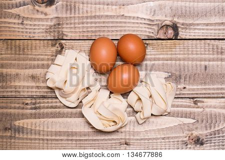 Three Eggs And Tagliatelle
