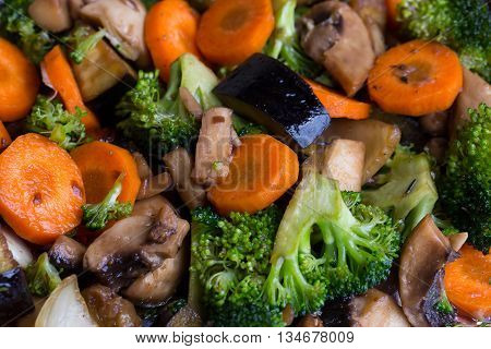 Cooked Vegetables And Champignons