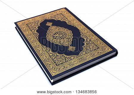 Book Qur'an or Koran isolated on white.