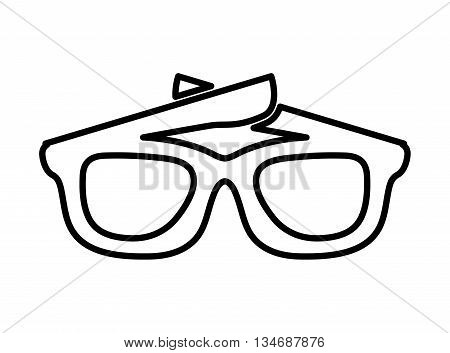 sunglasses isolated icon design, vector illustration eps10 graphic