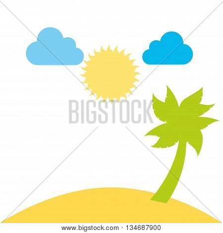 beutiful beach day  landscape design, vector illustration eps10 graphic