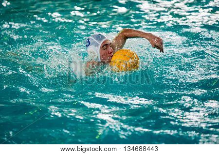 The Boys Play In Water Polo