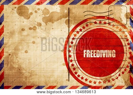 freediving sign background