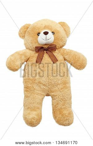 Image of toy teddy bear on white background