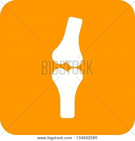 Bones, knee, joints icon vector image. Can also be used for human anatomy. Suitable for mobile apps, web apps and print media.