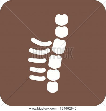 Spine, human, back icon vector image. Can also be used for digital web. Suitable for mobile apps, web apps and print media.