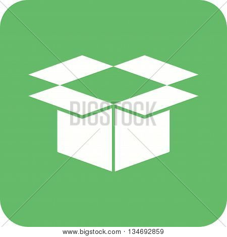 Box, package, open icon vector image. Can also be used for logistics. Suitable for mobile apps, web apps and print media.