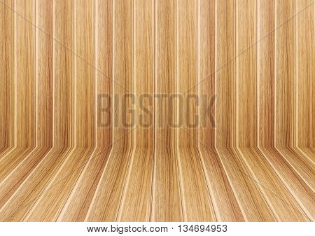 Perspective lines of sepia wooden floor stock photo