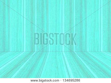 Perspective lines of wood blue background stock photo