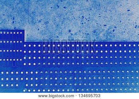 abstract of round metal mesh texture for background used