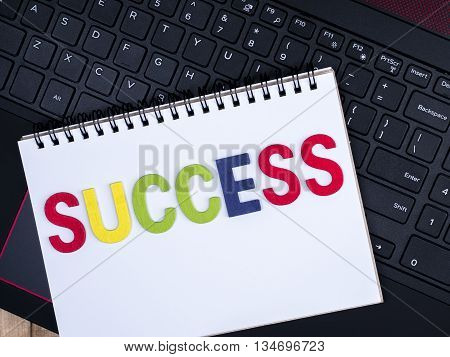 Word spell Success on notebook with laptop keyboard