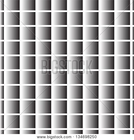silver gradient square cross background vector illustration image showing silver gradient shadow cross with white lines and look glossy surface with dark square pattern