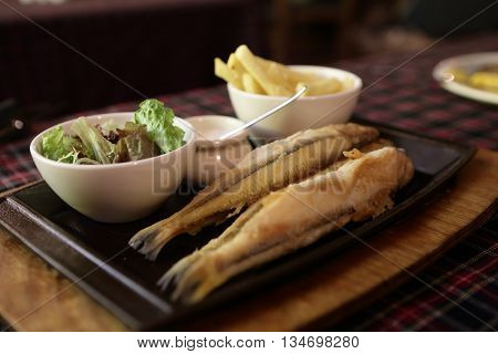 Fried Smelt Cooked In Olive Oil