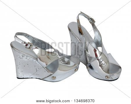 fashion shoes isolated on white