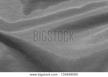 Closeup fabric texture background in black and white tone