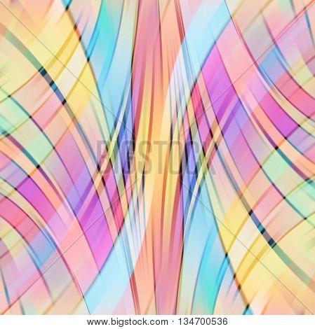Colorful smooth light lines background, simple vector ilustration