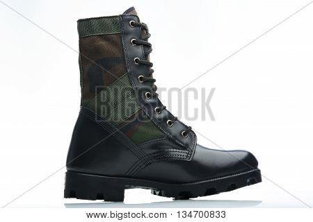 Camouflaged Leather Boot