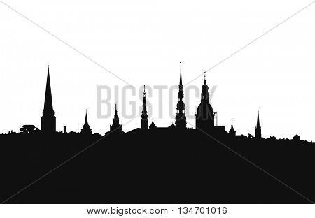 Riga city skyline