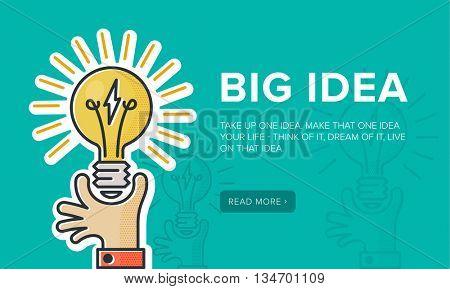 Big Creative Idea banner // illustration
