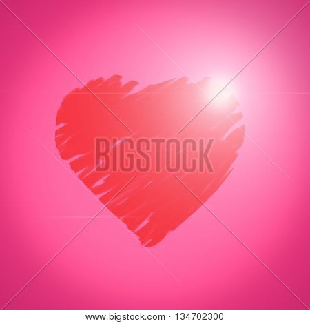 Ping heart background , Happy Valentine's Day