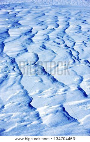 Windy snowfield - abstract background