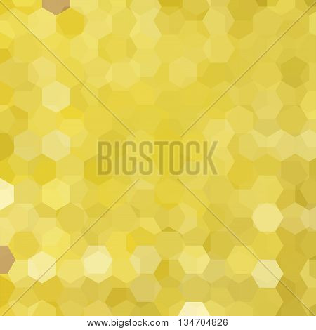 yellow abstract background, square simple vector illustration