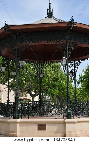 Sanary sur Mer France - april 20 2016 : the pavilion in the middle of the city