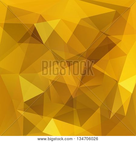 abstract yellow background, square simple vector illustration