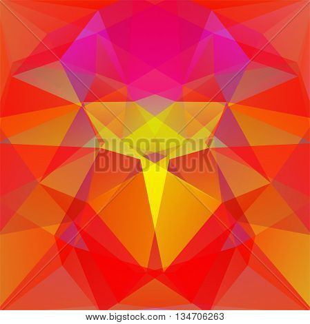 abstract red background, square simple vector illustration