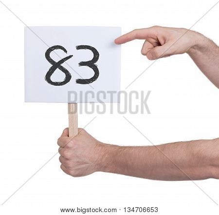 Sign With A Number, 83