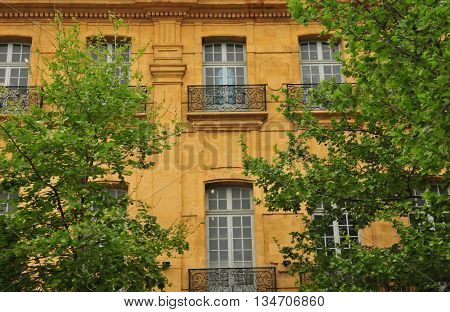 Aix en Provence France - april 21 2016 : the picturesque city in spring