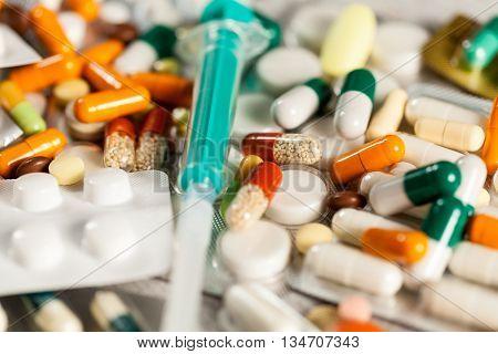 Antibiotic Prescription. Healthcare Treatment With Antibiotics