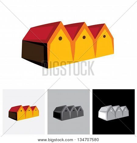 House ( Home ) Or Store ( Shed ) Vector Logo Icon For Real Estate.