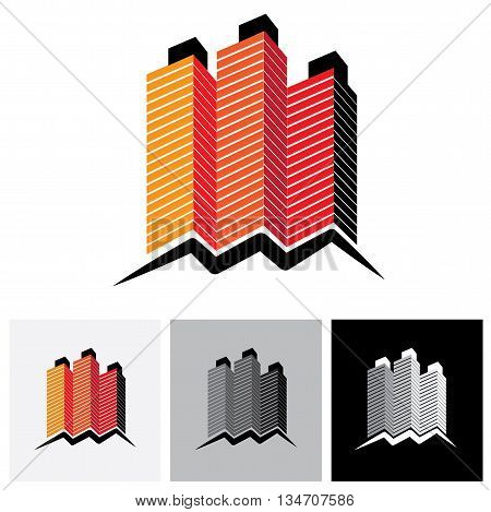 House ( Home ), Office Or Apartment Vector Logo Icon