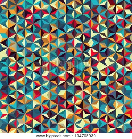 abstract background with colorful triangles, simple vector illustration