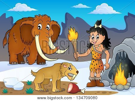 Prehistoric theme image 3 - eps10 vector illustration.