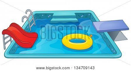 Pool theme image 1 - eps10 vector illustration.