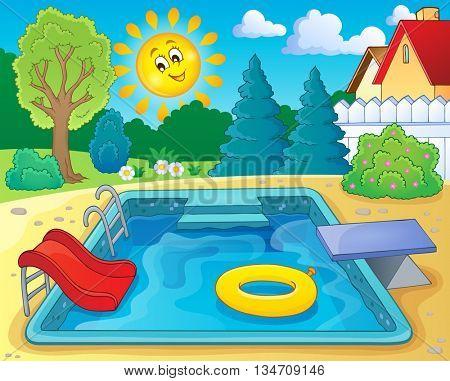 Pool theme image 2 - eps10 vector illustration.