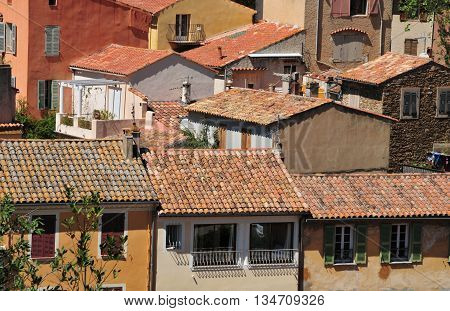 Bormes les Mimosas; France - april 18 2016 : the picturesque old village in spring