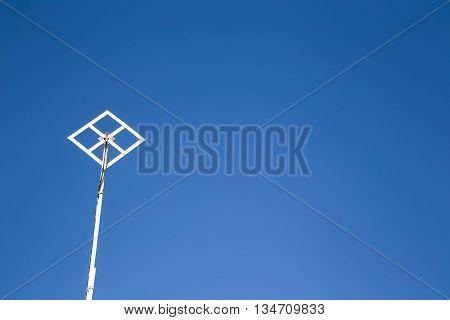 TV antenna on roof (blue sky backround)