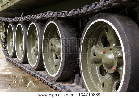 Steel wheel of a soldier big tank