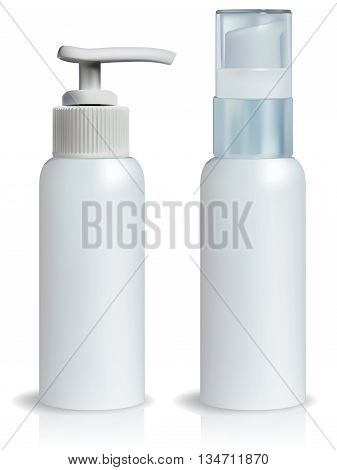 Cosmetics Containers / Vector cosmetics lotion toner containers