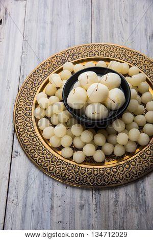 Rosogolla or Roshogolla or Rasagola or Ras Gulla or anguri rasgulla or angoori rasgulla, famous Bengali sweet