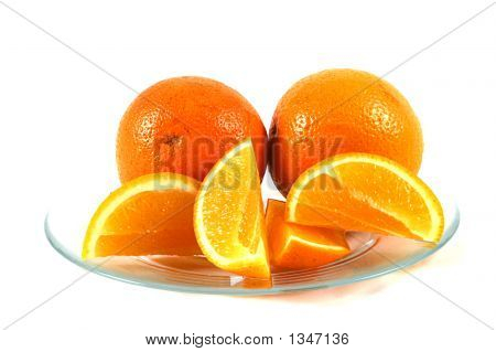 Orange Slices On A Plate