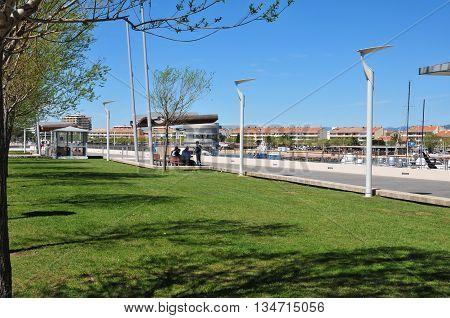 Saint Raphael; France - april 14 2016 : Bonaparte square