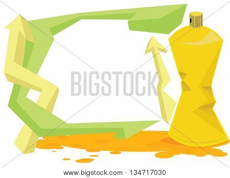 Vector - Spray color with graffiti drop on isolated background