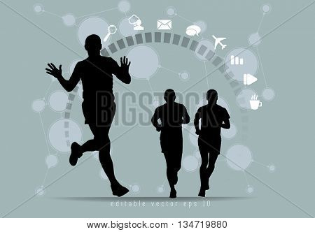 Sport illustration. Vector background