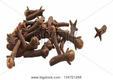 Heap of Cloves isolated on white background
